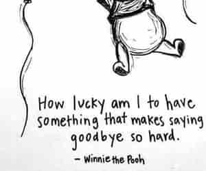 quotes, winnie the pooh, and goodbye image