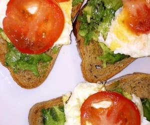 avocado, egg, and food image