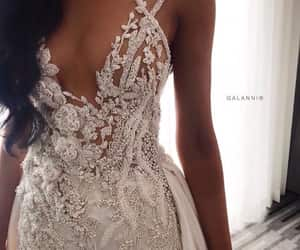 fashion, glam, and wedding dress image