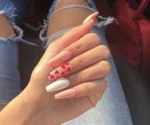 hearts, nails, and beauty image