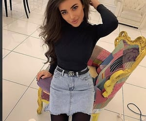 beautiful girl, fashion, and gucci belt image