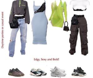 Balenciaga, jeans, and neon image