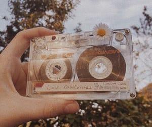 vintage, cassette, and flower image
