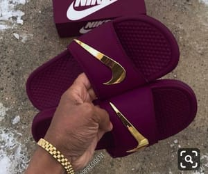 nike and slippers image