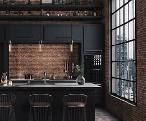 black, house, and kitchen image