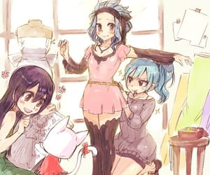 levy, juvia, and wendy image