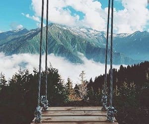 nature, mountains, and swing image