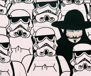 guy fawkes, photography, and storm troopers image