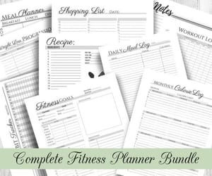etsy, health and fitness, and planner printable image