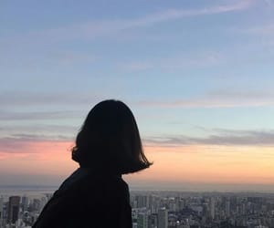 ulzzang, sky, and sunset image