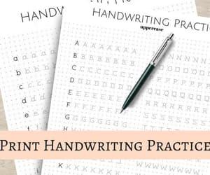 calligraphy, printing, and handwriting practice image