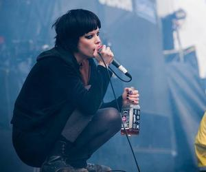 Crystal Castles, Alice Glass, and jack daniels image