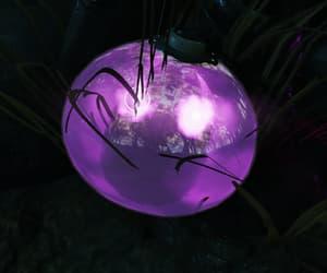 alien, eyes, and purple image
