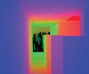 art installation, light, and neon image