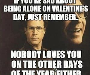 funny, Valentine's Day, and alone image