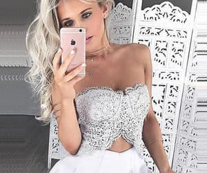 backless prom dress, white homecoming dresses, and sleeveless prom dress image