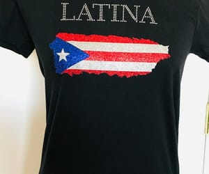 bling, puerto rico, and v neck image
