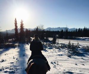 canada, travel, and horseback riding image