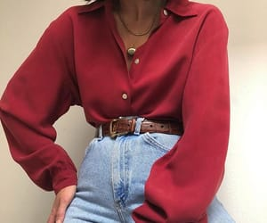 aesthetic, belt, and blouse image