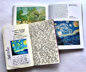 books, journals, and paintings image