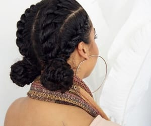 braids, hairstyle, and photogrpahy image