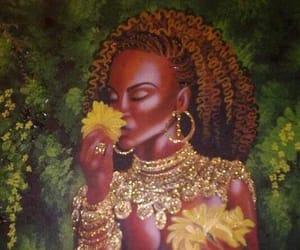 aesthetic, woman, and yellow image