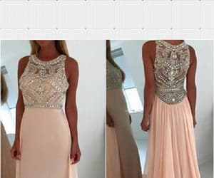 sexy prom dress, blush prom dress, and prom dress chiffon image