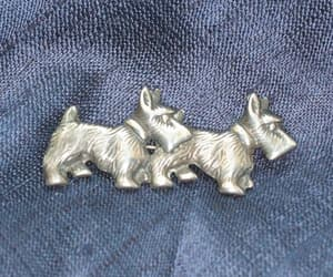 etsy, dog lover gift, and silver scottie dogs image