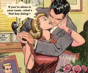 comic, retro, and Valentine's Day image