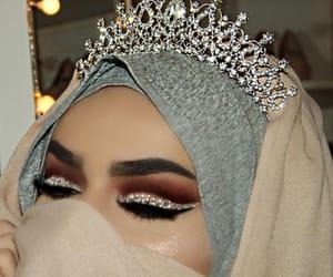 arab, hijab, and crown image