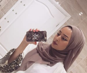 beige, Blanc, and hijab image