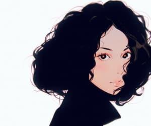 art, curls, and anime girl image