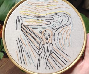 art, embroidery, and hipster image