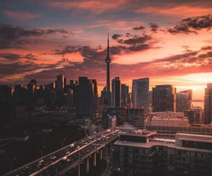 city, sunset, and photography image