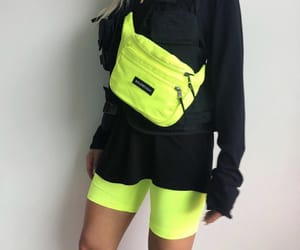 black, neon, and fashion image