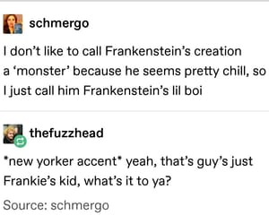 Frankenstein, funny, and tumblr image