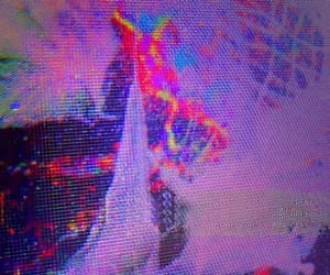 aesthetic, broken, and tv image