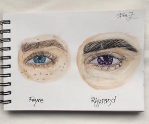 art, eyes, and feyre image