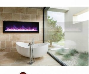 electric fireplace insert and modern electric fireplace image