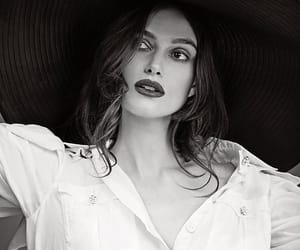actress, black and white, and keira knightley image