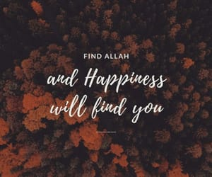 god, happiness, and islamic image