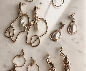 earrings, gold, and accessories image