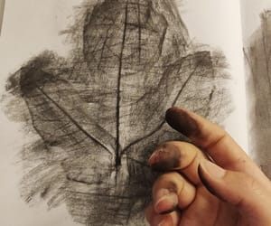 black and white, hands, and draw drawing image