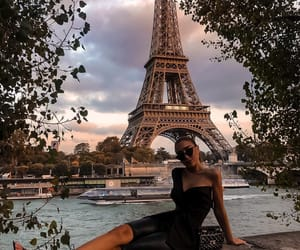 bag, eiffel, and fancy image