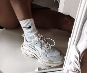 nike, white shoes, and sport shoes image