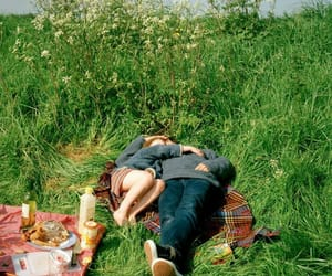 couple, grass, and green image