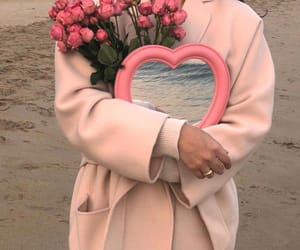 beach, wedding ring, and flowers image