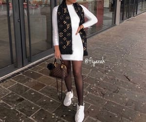 louis vuitton scarf, inspi inspiration, and ootd tenue love image