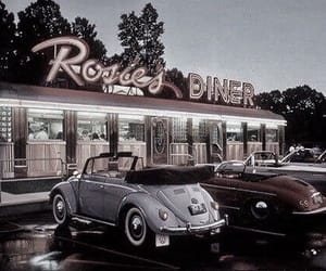 vintage, car, and diner image