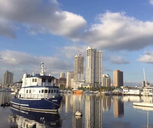 boats, city, and scenery image